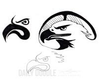 Eagle Forms, Doodle by Judah Fansler