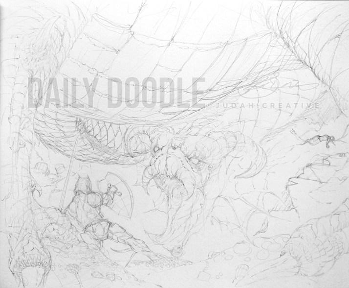 092313 Underfoot Dragon - Phase 1 by Judah Fansler, Artist & Owner at Judah Creative, a full service graphic design & Illustration studio