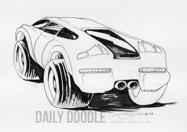 011014 Car by by Judah Fansler, Artist & Owner at Judah Creative, a full service graphic design & Illustration studio near Branson, MO & Springfield, MO
