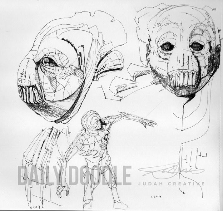 012614 Sci Fi Doodles by Judah Fansler, Artist, Designer, Illustrator at Judah Creative, A full service Graphic Design & Illustration Studio