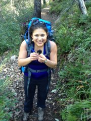 Sydney Glassman enjoys hiking and ascomycetes in Big Sur National Forest, CA, March 2013