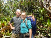 Dr. Terry Henkel and I stop for a photo in the pygmy forests on top of Mt Ayangannah, June 2012