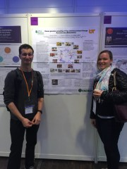 Dr. Jessy Labbe and I at the European Fungal Genetics Conference, Paris, April 2016