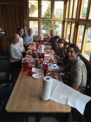 Collaborators attending the PMI-Fungal Genetics meeting in Durham NC enjoy eastern NC BBQ, May 2016