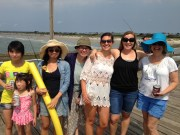 The Vilgalys lab does lab fishing day at Sunset Beach, June 2016