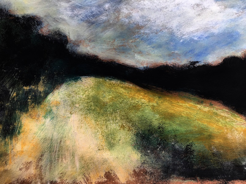 Dusk over Pluckley by Jude Askey-Brown