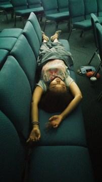 Oh yeah, we collapsed in the chapel to sleep. La La Land.