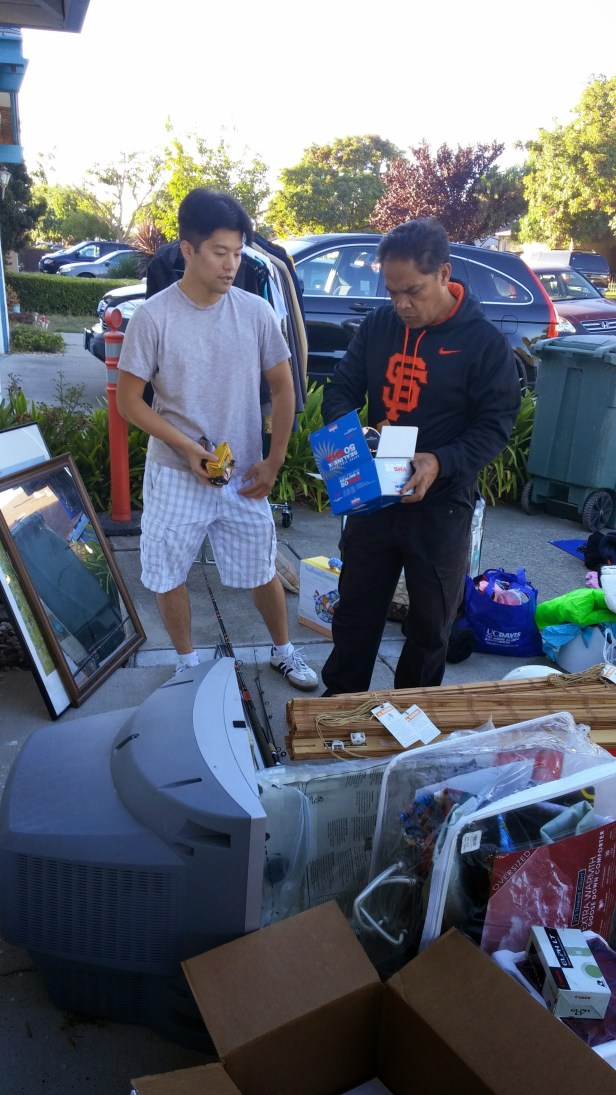 Allen explaining his donated item to our 1st customer