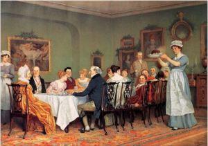19th century dinner