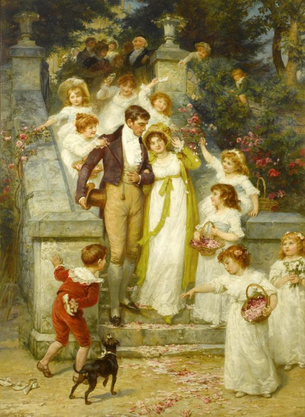 Frederick_Morgan_-_Off_for_the_Honeymoon