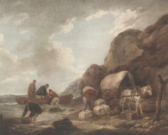 George Morland, Smugglers Isle of Wight