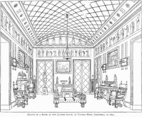The-Egyptian-room-drawing