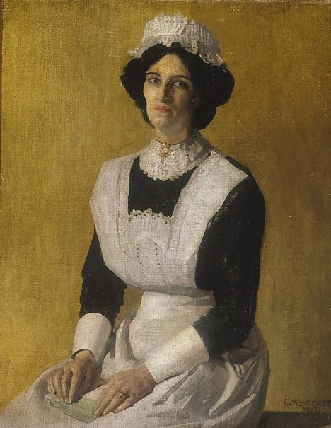 Ella's attacker The Maid George Lambert 1915