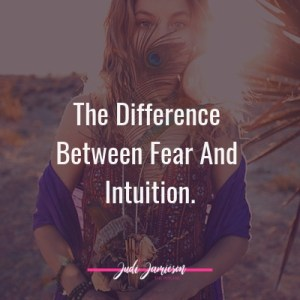 difference between fear and intuition