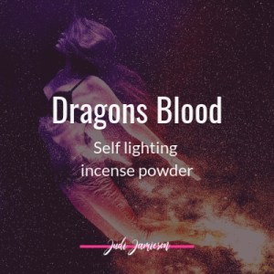 Dragons blood self-lighting incense powder for increased power, purification, protection, consecration, and the development of strong energy.