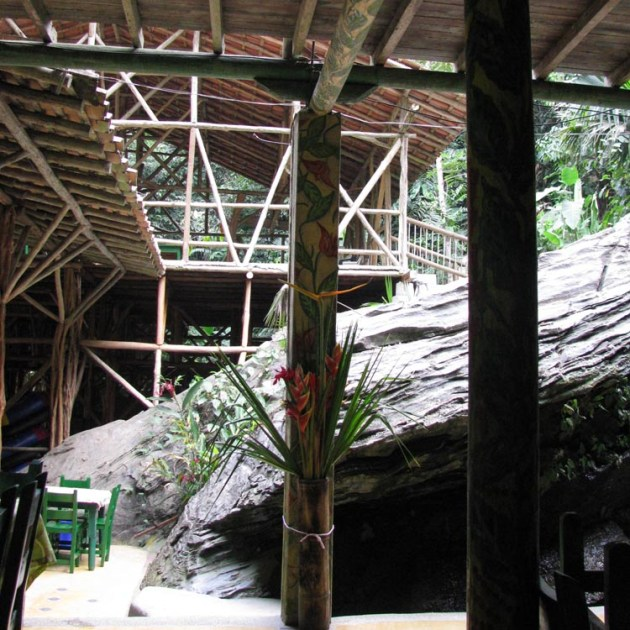 the main lodge...made as part of the mountain