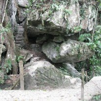 some steps up to the cabanas