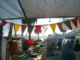 My new Upcycled Bunting at my booth