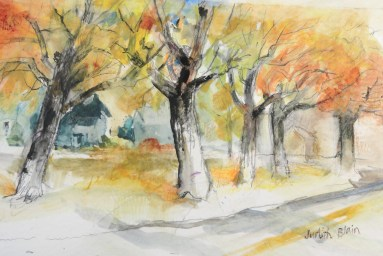 Boulevard in WBL - 6x12 - watercolor - $75