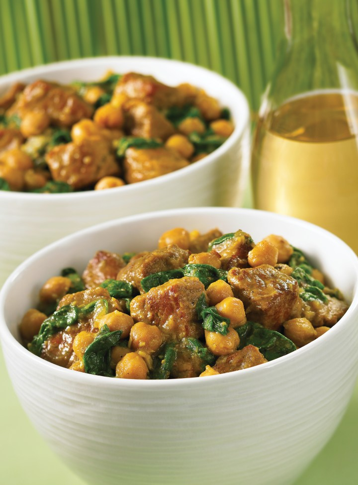Beef and Chickpea Curry with Spinach