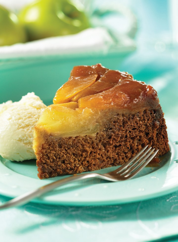 Caramelized Apple Upside Down Spice Cake