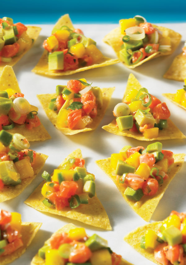 Mango Spiked Salmon Ceviche
