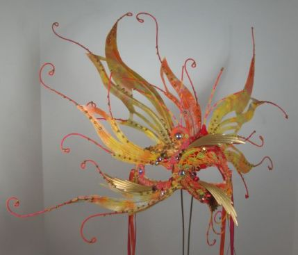 Gold Sunset in New Mexico Masquerade Mask