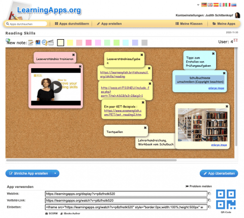 Pinnwand von LearningApps