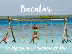 """Miniature Judith voyage """"Bacalar la lagune aux 7 nuances de bleu"""""""