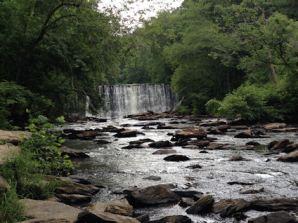 Waterfall at Vickery Creek Dam
