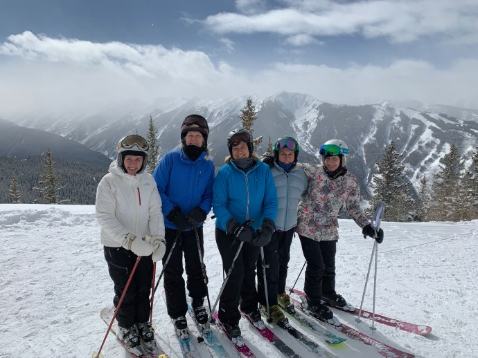Skiing with the girls
