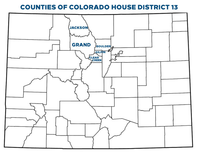 Counties of CO HD13