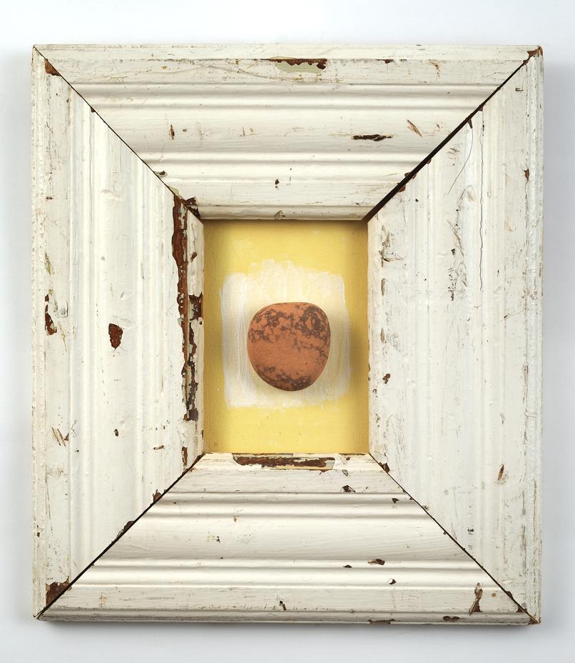 Framed Stone,15 ½ x14
