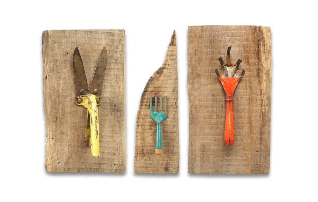 Vintage Garden Tools, Sizes range from between 20 by 9 inches
