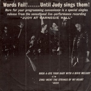 Judy at Carnegie Hall 45rpm edition