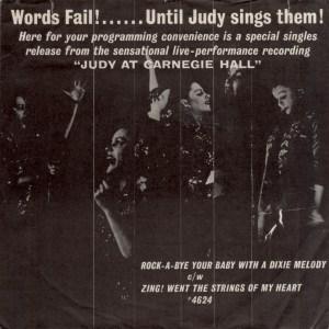 Judy at Carnegie Hall 45rpm edition