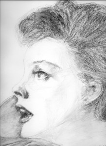Judy 1962 Original charcoal by Bill Biss