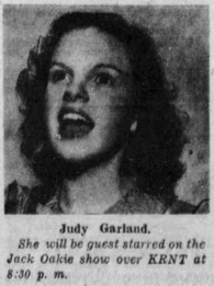 Judy Garland on Jack Oakie's College radio show April 20, 1937