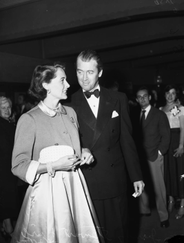 Jimmy Steward and his wife arrive at Judy Garland's opening at the Los Angeles Philharmonic April 21, 1952