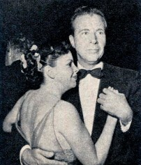 Judy Garland and Dick Powell at Romanoff's after Garland's Los Angeles Philharmonic opening night April 21, 1952