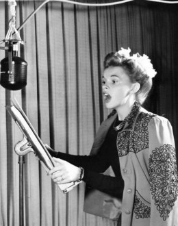 Judy Garland in an MGM recording booth 1941