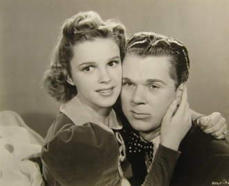 Judy Garland and Jackie Cooper in