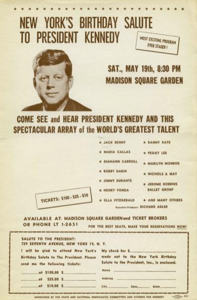 May 19, 1962 JFK Birthday Bash