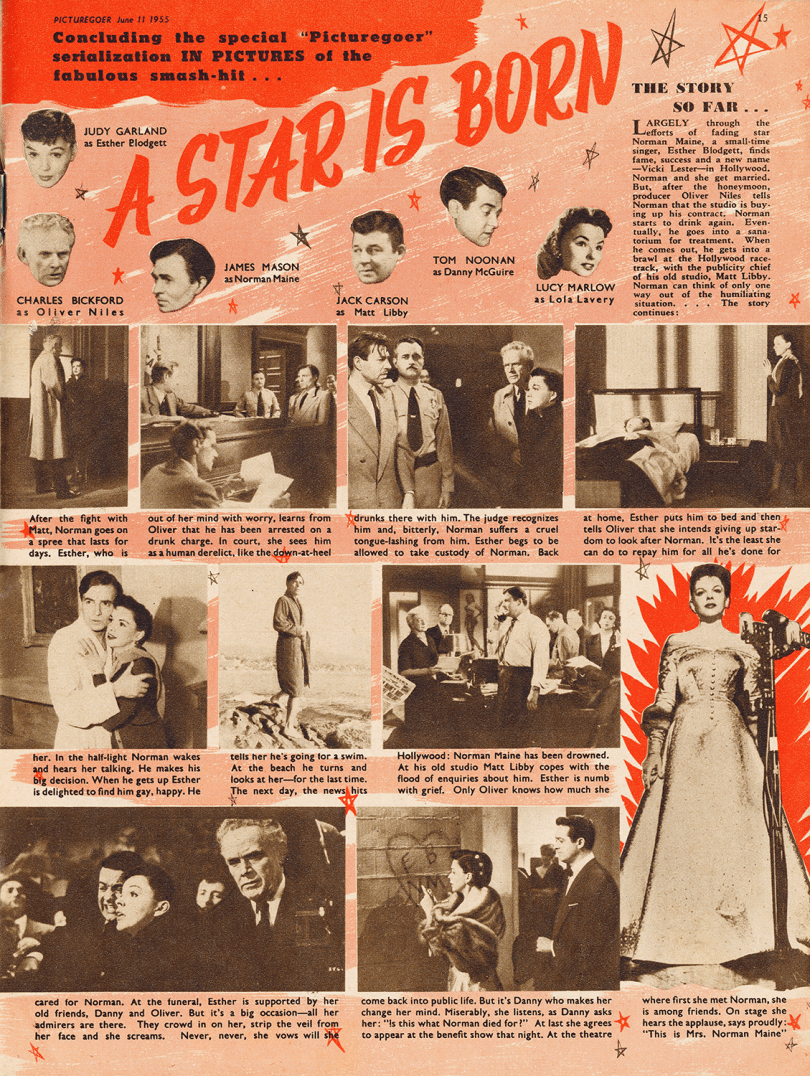 "Judy Garland in ""A Star Is Born"" - Picturegoer magazine June 11, 1955"