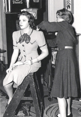 """Judy Garland on the set of """"Strike Up The Band"""""""