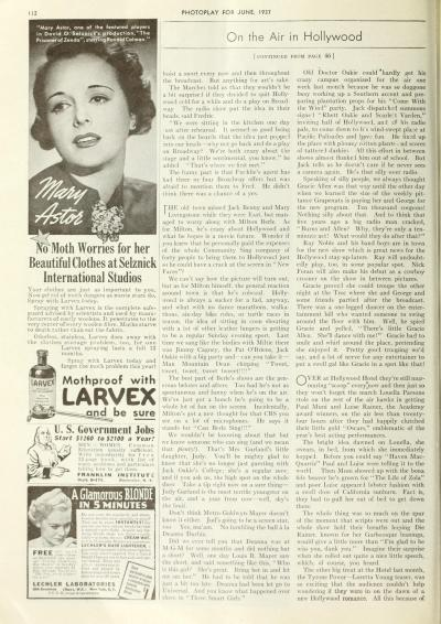 June 1, 1937 Photoplay Oakie College mention 2