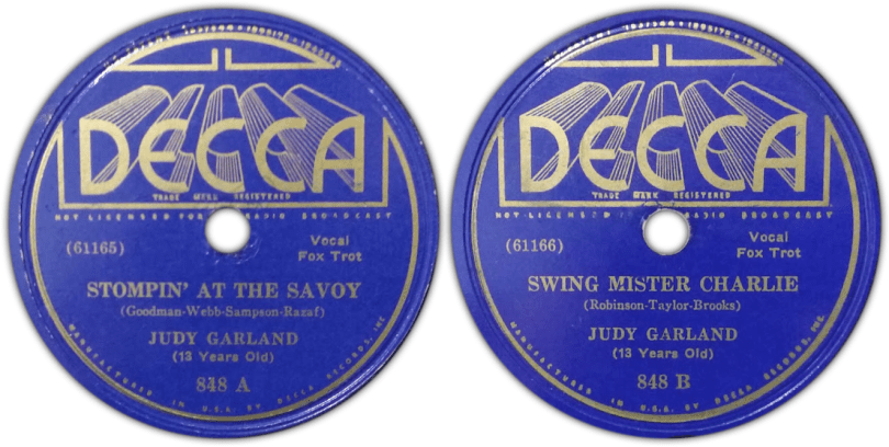 Judy Garland on Decca Records