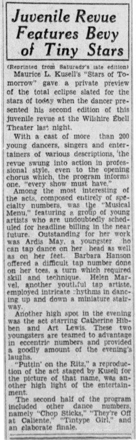 July 13, 1931 STARS OF TOMORROW The_Los_Angeles_Times