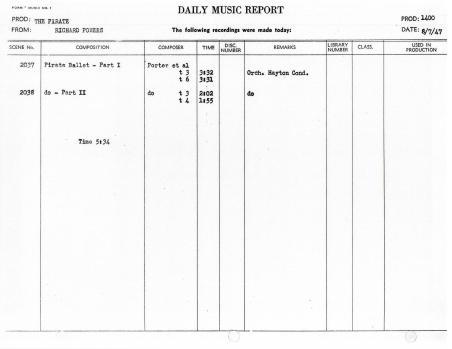 August 7, 1947 Pirate Ballet
