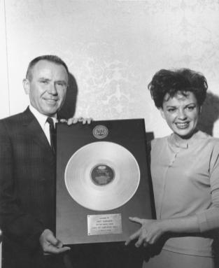 September 18, 1962 Glenn Wallichs presents Carnegie Hall certified gold by RIAA June 27, 1962 b